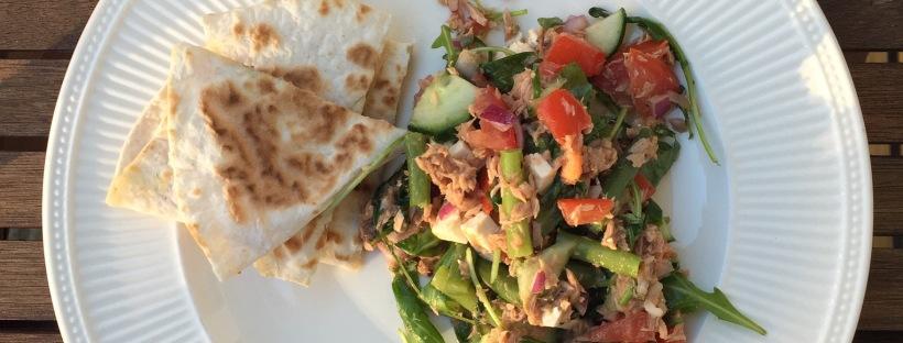 Samen Bourgondisch: Frisse tonijnsalade met quesadillas