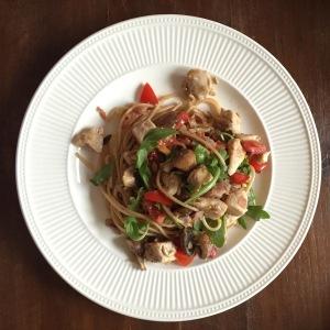 Samen Bourgondisch: Pasta al tartufo e pollo
