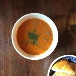 Samen Bourgondisch: Tomaten- paprikasoep met ballen