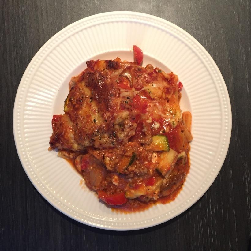 Lasagne bolognese hüttenkäse samen bourgondisch