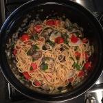Spaghetti Vongole Samen Bourgondisch