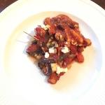 Cannelloni van aubergine, samen bourgondisch
