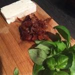 Zalm gevuld met feta, spinazie en zongedroogde tomaat