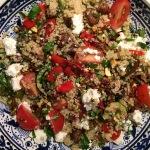 Couscous met gegrilde groenten en feta