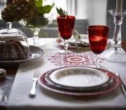 Mooi gedekte kersttafel