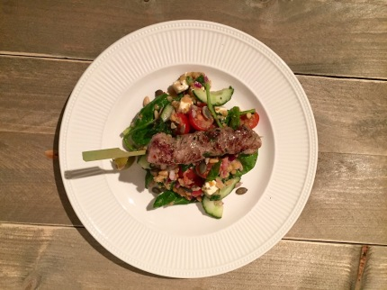 Lamsvlees - Griekse salade met couscous