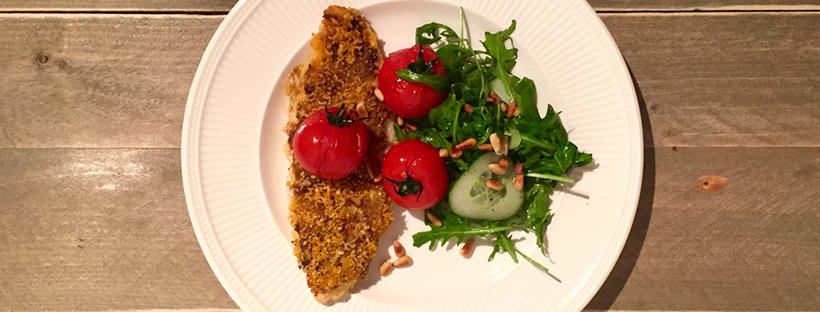 Pangasius met een tomatentapenade korst