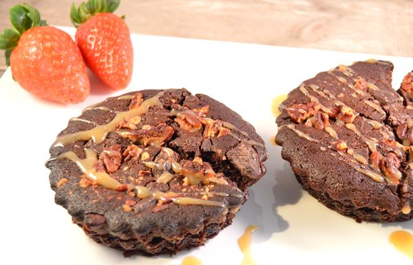 Brownies met pecannoten & salted caramel
