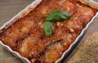 Melanzane alla parmigiana met focaccia