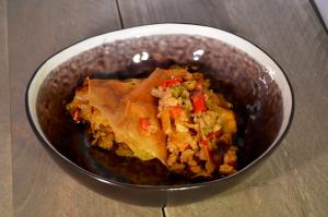 Pastei met gehakt, paprika en champignons - Samen Bourgondisch