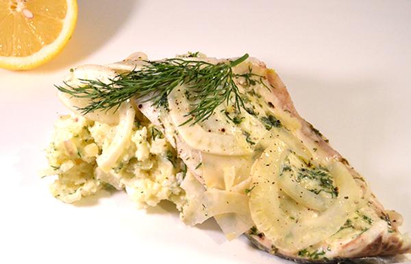 Zeebaars met aardappel-venkelsalade