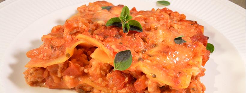 Lasagne bolognese met kip & oregano