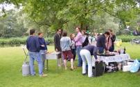 Barbecue feestje in het park