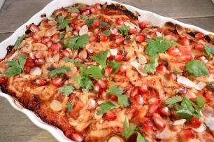 Cannelloni met ricotta, spinazie en muhammara