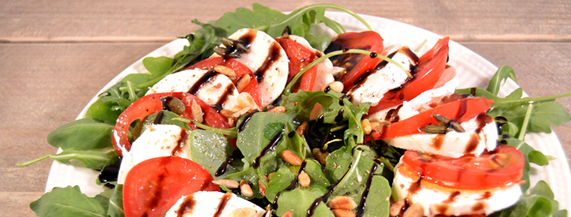 BBQ bijgerecht salade caprese