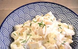 Gezonde aardappelsalade bbq bijgerecht