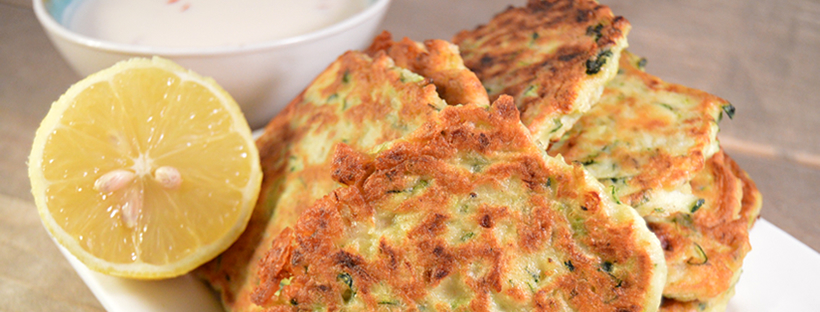 Recept Courgettekoekjes met feta en munt