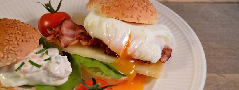 Brunch recepten: broodjes met gepocheerd ei
