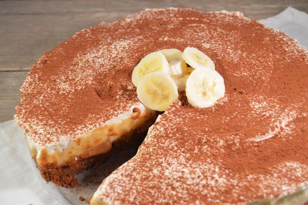 Banoffee taart met bastogne bodem