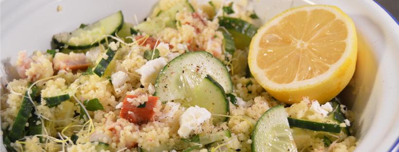 citroen couscous met komkommer en feta