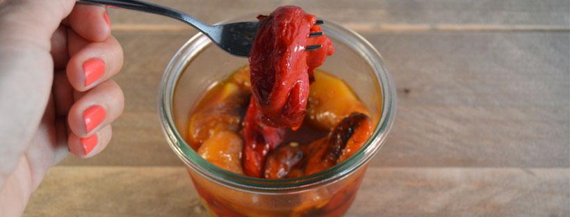 Gegrilde paprika uit de oven