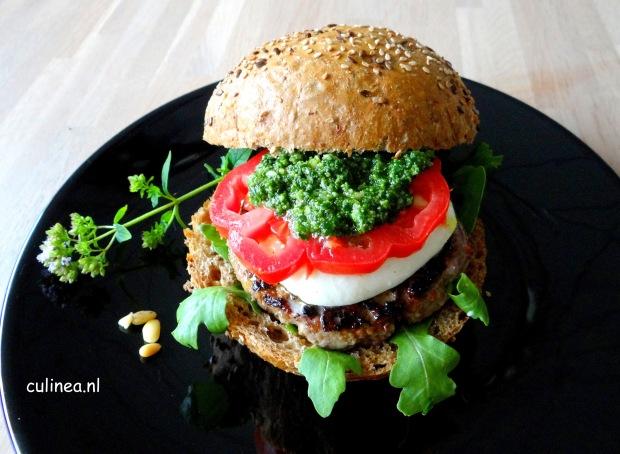 Caprese hamburger gastblogger Culinea