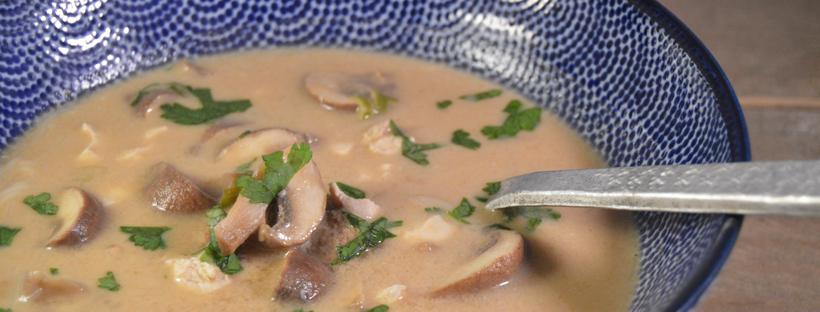 Thaise kokossoep met kip - Tom Kha Kai