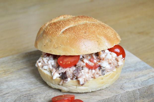 Gezonde tonijnsalade met cottage cheese